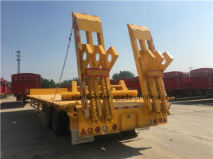 2 Axles Goose Neck Low Bed Trailer pictures & photos