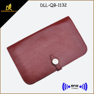Soft Top Thailand Leather Wallet for Women with RFID Blocking Function pictures & photos