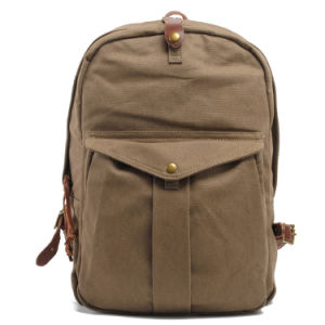 Water Proof Student Rucksack Canvas School Backpack Bag (RS2111) pictures & photos