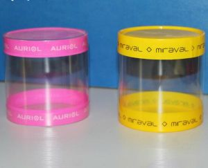 Cylinder Round Plastic Box with Printing (HH397) pictures & photos