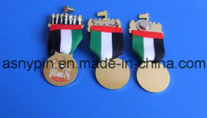 UAE National Day Spirit of Logo Badge with Fabric & Round Metal Logo pictures & photos