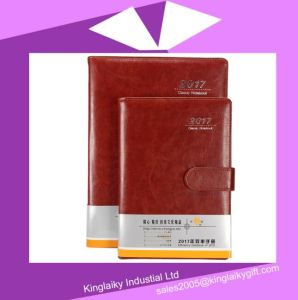 Classic PU Cover Notebook with Logo for Promotion (N-02) pictures & photos