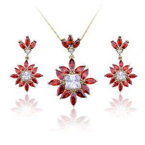 Flower Marquise Cut Cubic Zirconia Diamond Cluster New Jewelry Sets for Wedding pictures & photos
