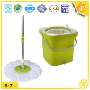 Household Microfiber Spin Mop Bucket Set pictures & photos