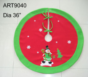Christmas Decoration Snowman Tree Skirt pictures & photos