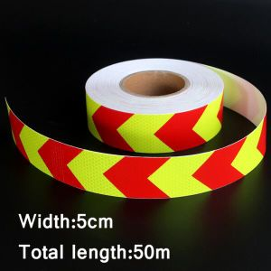 Dual Colors Arrow Pattern Lattice Reflective Tape Sticker Car Styling Automobile Vehicle Truck Motorcycle Warning Film Decal pictures & photos