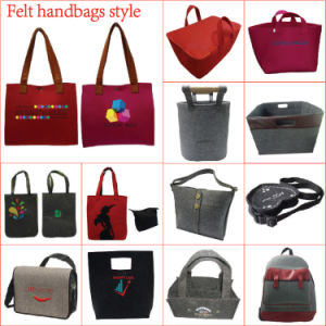 Medium Soft Felt Velvet Tote Bag for Ladies pictures & photos