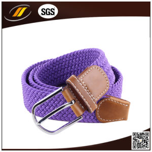 Latest Arrival Leather Belt Men Braided Elastic Belt (HJ5115) pictures & photos