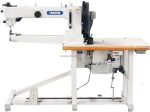 Long Arm Cylinder Bed Triple Feed Walking Foot Heavy Duty Lockstitch Sewing Machine pictures & photos