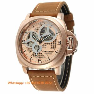 Brilliant Smart Automatic Men′s Watch with Genuine Leather Strap Fs640 pictures & photos