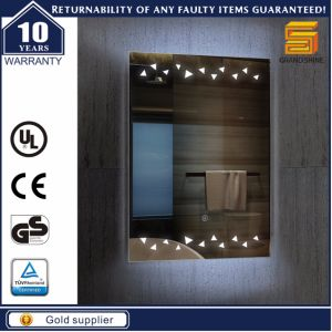 Docorative Aluminum LED Bathroom Mirror for Hotel pictures & photos