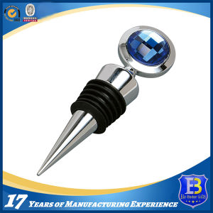 High Quality Blue Crystal Wine Stopper pictures & photos