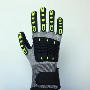 Nitrile Coated Hppe/Lycra Gloves, with TPR&Sponge&Self-Sticker pictures & photos