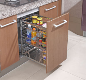 Popular Kitchen Cabinet Pull out Basket, Kitchen Cabinet Drawer Basket, pictures & photos