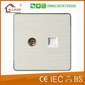 China Manufacturer UK TV Wall Socket Computer Socket pictures & photos
