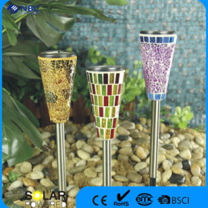 Nbc-9107 Stainless Steel Glass High Quality Solar LED Stake Light pictures & photos
