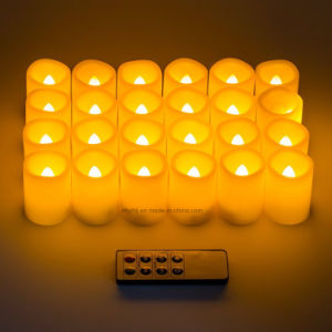 Flameless Yellow Flicker Battery LED Tea Light Wholesale pictures & photos