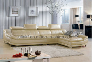 New Italian Modern White Color Living Room Leather Sofa (HX-F605) pictures & photos