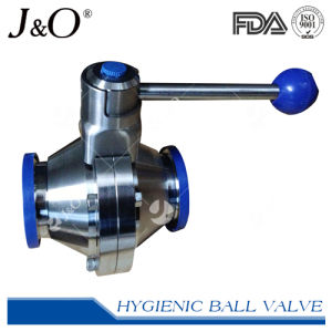 Sanitary Stainless Steel Clamp End Butterfly Ball Valve pictures & photos