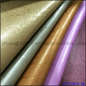 Semi-PU Leather for Upholstery Wall Cover Home Decoration pictures & photos