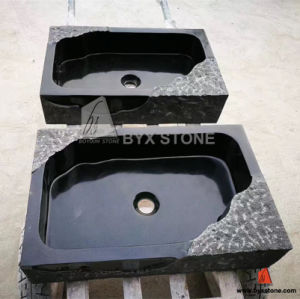 Absolute Black Granite Square Wash Basin Stone Bathroom Rectangular Sinks pictures & photos