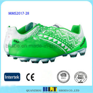 High Quality PU Upper Lace-up Closure Football Shoes pictures & photos