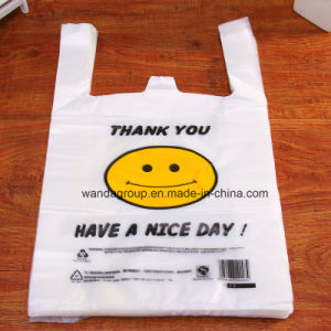 PE Tear Resistant T-Shirt Shopping Bag pictures & photos