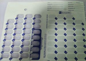 Cold Sealing Pill Box Medication Punch Card pictures & photos