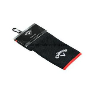 Customized Design Logo Towel Printed Quick Dry Microfiber Golf Towel pictures & photos