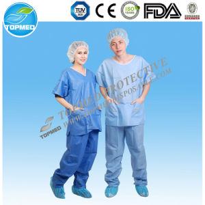 Disposable Nonwoven PP/SMS Design Nurse Uniform /Medical Scrub pictures & photos