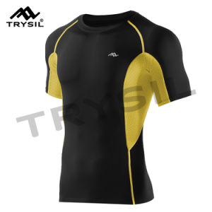 Male Sport Shirts T Shirt Sportswear Gym Clothing pictures & photos