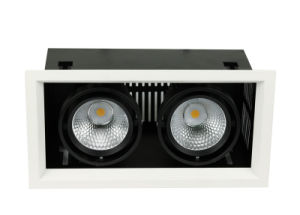 High Quality 3000lm 2*18W LED Recessed Grille Light, LED Grille Downlight pictures & photos