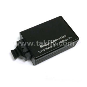 Sc Single Mode Dual Fiber 100m Mini Type Media Converter pictures & photos