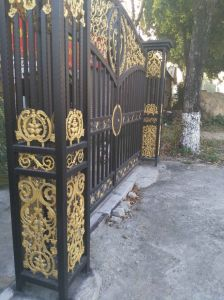 Casting Iron Gate Decorative Wrought Iron for Gates Ntirg-094s pictures & photos