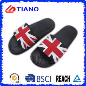 Upper Printing with Flags PVC Slipper (TNK35767) pictures & photos