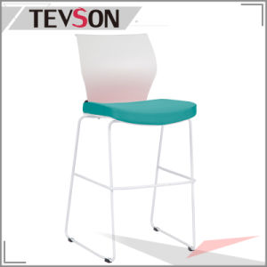 Fashion Bar Stool with Plastic Back and Soft Seat pictures & photos