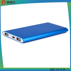 Aluminum alloy material Li-polymer slim power bank 10000mAh pictures & photos