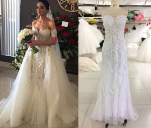 2016 Pop Sale 2 in 1 Wedding Dress with Tulle Train pictures & photos
