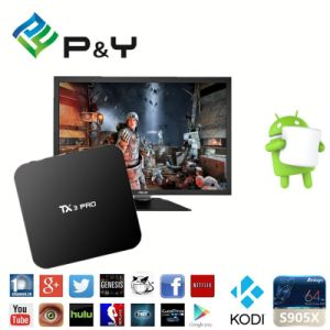 Newest S905X Android 6.0 Penta-Core GPU Quad Core Ott TV Box Tx3 PRO Cheapest Android TV Box pictures & photos