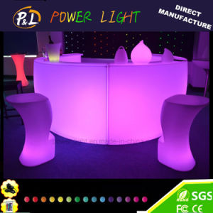 Plastic Color Changing Full Round LED Curved Bar Counter pictures & photos