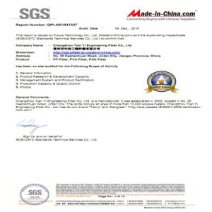 PP Macro Fiber Used in Building Material with SGS, ISO Certification pictures & photos