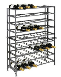 54 Bottle Metal Wine Display Stand for Storage