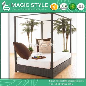 New Style High Quality Rattan Sunbed Garden Sunbed Wicker Daybed (Magic Style) pictures & photos