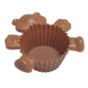 Factory Direct Custom Bear Silicone Baking Cake Mold pictures & photos