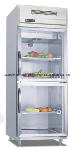 Commercial Stainless Steel Display Refrigerator with Glass Door with Ce pictures & photos