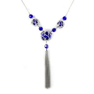 Vintage Engagement Wedding Blue Sapphire Pendant Necklace pictures & photos