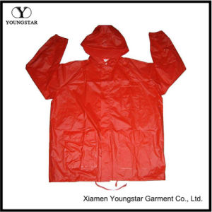 Fashion Lightweight Waterproof PVC Rain Jacket pictures & photos