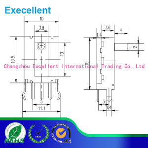 Slide Potentiometers for Amplifier, Volume Control, Lighting, with Various Features pictures & photos