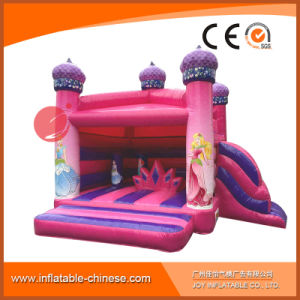 2017 Inflatable Pink Princess Jumping Castle with Slide (T2-310) pictures & photos