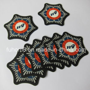 Clothing Main Felt Label with 3D Silicone or PVC Logo pictures & photos